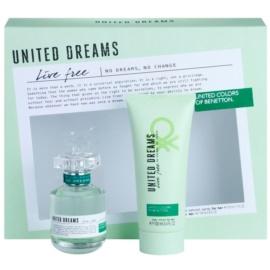 Benetton United Dreams Live Free darčeková sada II. toaletná voda 50 ml + telové mlieko 100 ml