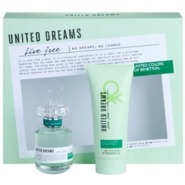 Benetton United Dreams Live Free darilni set II. toaletna voda 50 ml + losjon za telo 100 ml