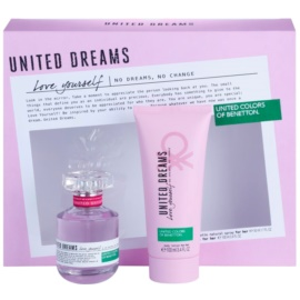 Benetton United Dreams Love Yourself set cadou II. Apa de Toaleta 50 ml + Lotiune de corp 100 ml