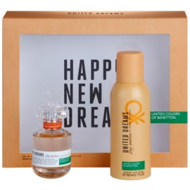 Benetton United Dream Stay Positive zestaw upominkowy I. woda toaletowa 50 ml + dezodorant w sprayu 150 ml