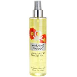 Benetton Warming Mango Körperspray für Damen 250 ml