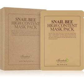 Benton Snail Bee Sheet maska za cjelovitu njegu s ekstraktom puža 10 × 20 g