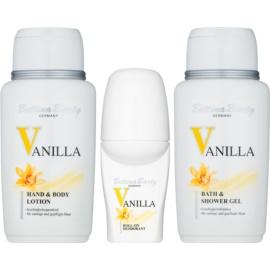 Bettina Barty Classic Vanilla set cadou III  gel de duș și baie 150 ml + Deodorant roll-on 50 ml + Lotiune de corp 150 ml + geanta cosmetice 1 ks
