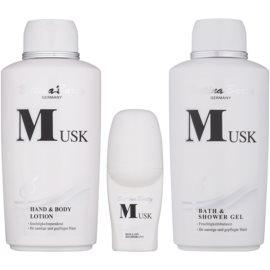 Bettina Barty Classic Musk Geschenkset I.  Körperlotion 500 ml + Duschgel 500 ml + Deo-Roller 50 ml