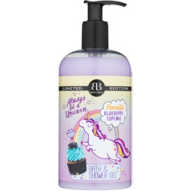 Bettina Barty Vanilla Blueberry Cupcake gel de ducha y baño  500 ml