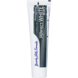 Beverly Hills Formula Perfect White Black Pasta de dinti albire cu cărbune activ pentru o respiratie proaspata aroma Fresh Mint 100 ml