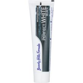 Beverly Hills Formula Perfect White Black wybielająca pasta do zębów z aktywnym węglem odświeżający oddech smak Fresh Mint 100 ml