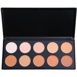 BH Cosmetics 10 Color paleta korektorjev in pudrov  20 g