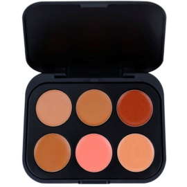 BHcosmetics 6 Color paleta korektorů odstín Dark  5,8 g