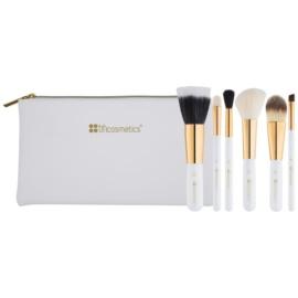 BHcosmetics Bright White kit de pinceaux  6 pcs