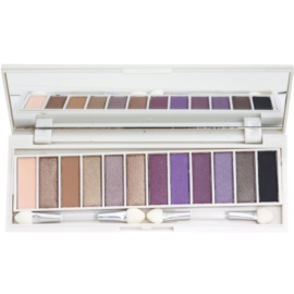 BHcosmetics Enhancing paleta farduri de ochi cu oglinda mica Beautiful Brown Eyes  15,6 g