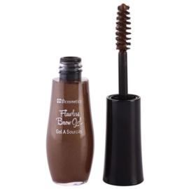 BHcosmetics Flawless gel pentru sprancene culoare Dark Brown 6 g