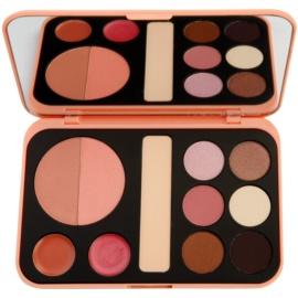 BHcosmetics Forever Nude paleta dekorativní kosmetiky se zrcátkem  22 g