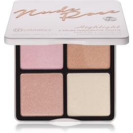 BHcosmetics Nude Rose Highlight bőrvilágosító paletta  21 g