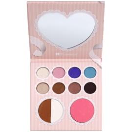 BHcosmetics That´s Heart paleta kosmetyków do makijażu z lusterkiem  12,4 g
