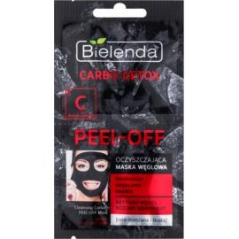 Bielenda Carbo Detox Active Carbon masque peel-off visage au charbon actif pour peaux mixtes et grasses  2 x 6 g