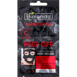 Bielenda Carbo Detox Active Carbon Peel-off Face Mask with Activated Carbon for Oily and Combination Skin  2 x 6 g