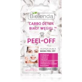 Bielenda Carbo Detox White Carbon maschera peel-off detergente  2 x 6 g