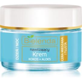 Bielenda Hydra Care Coconut & Aloe crema-gel idratante leggera per pelli grasse e miste  50 ml