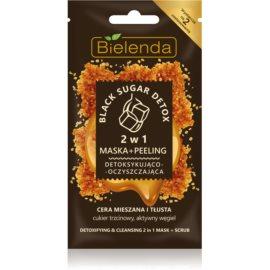 Bielenda Black Sugar Detox Detoxifying Mask And Micro Scrub 2 In 1  8 g
