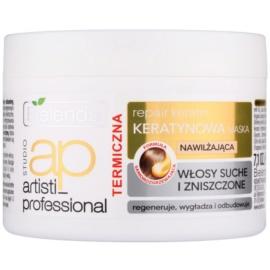 Bielenda Artisti Professional Repair Keratin відновлююча та зволожуюча маска для сухого або пошкодженого волосся  200 гр