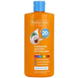 Bielenda Bikini Coconut hydratační mléko na opalování SPF 20  200 ml