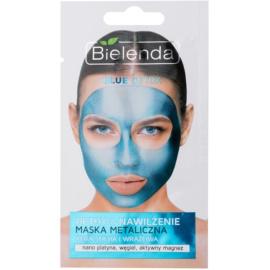 Bielenda Metallic Masks Blue Detox Entgiftende Feuchtigkeitsmaske für trockene bis empfindliche Haut  8 g