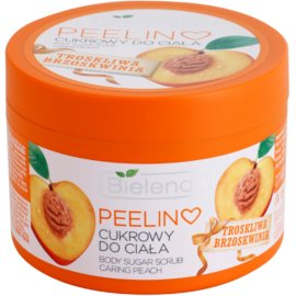 Bielenda Caring Peach tělový peeling s cukrem  200 g