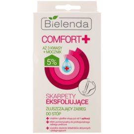Bielenda Comfort+ eksfoliacijske nogavice za mehčanje in vlaženje kože stopal  2 x 20 ml