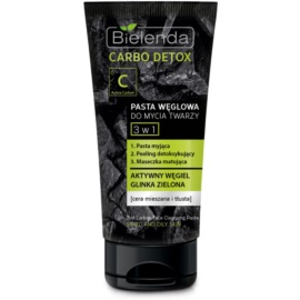 Bielenda Carbo Detox Active Carbon 3-in-1 Cleansing Paste with Activated Charcoal  150 g