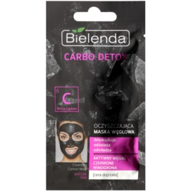 Bielenda Carbo Detox Active Carbon Cleansing Mask with Activated Charcoal For Mature Skin  8 g