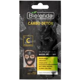 Bielenda Carbo Detox oczyszczająca maseczka z węglem do skóry tłustej i mieszanej  8 g