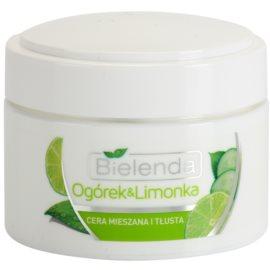 Bielenda Cucumber&Lime mattierende Feuchtigkeitscreme für fettige und Mischhaut  50 ml