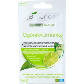 Bielenda Cucumber&Lime Cleansing Mask With Moisturizing Effect  2 x 5 g
