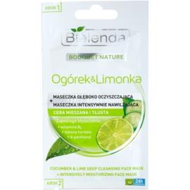 Bielenda Cucumber&Lime máscara de limpeza com efeito hidratante  2 x 5 g