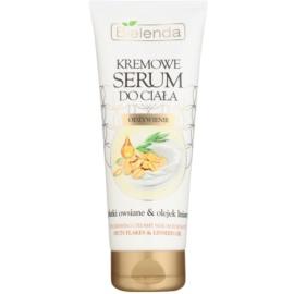 Bielenda Outs Flakes & Linseed Oil Creme-Serum für den Körper zum nähren und Feuchtigkeit spenden  200 ml