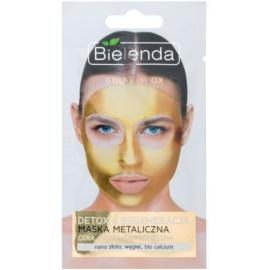 Bielenda Metallic Masks Gold Detox regenerační a detoxikační maska pro zralou pleť  8 g