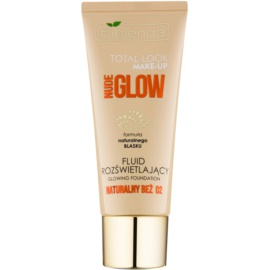 Bielenda Total Look Make-up Nude Glow machiaj lichid lucios culoare Natural Beige 02 30 g