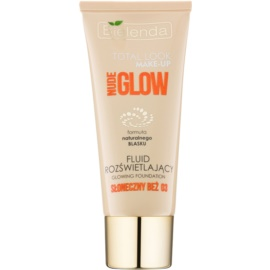 Bielenda Total Look Make-up Nude Glow machiaj lichid lucios culoare Sunny Beige 03 30 g