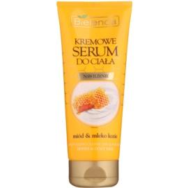 Bielenda Honey & Goat Milk Creme-Serum für den Körper mit feuchtigkeitsspendender Wirkung  200 ml