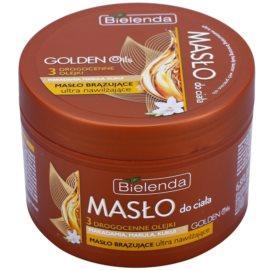 Bielenda Golden Oils Ultra Hydration Body-Selbstbräunerbutter mit feuchtigkeitsspendender Wirkung  200 ml