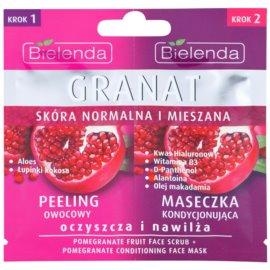 Bielenda Pomergranate peeling a maska pro intenzivní hydrataci pleti  2 x 5 g