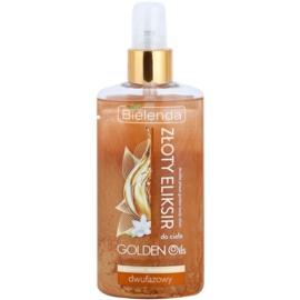 Bielenda Golden Oils Ultra Nourishing Zwei-Phasen Körperöl mit Glitzerteilchen  150 ml