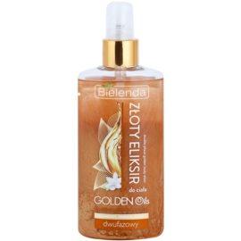 Bielenda Golden Oils Ultra Nourishing двофазова олійка для тіла з блискітками  150 мл