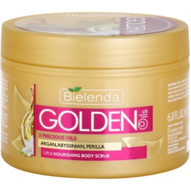 Bielenda Golden Oils Ultra Nourishing tělový peeling pro suchou pokožku  200 ml