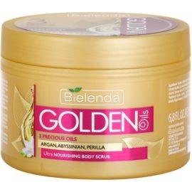 Bielenda Golden Oils Ultra Nourishing peeling corporal  para pele seca  200 ml