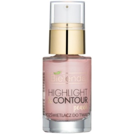 Bielenda Highlight & Contour iluminator culoare Peach 15 ml
