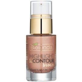 Bielenda Highlight & Contour iluminator culoare Bronze 15 ml
