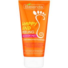 Bielenda Happy End peeling na chodidla a paty s přírodní pemzou  125 g