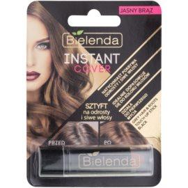 Bielenda Instant Cover Haarfärbestift für Ansätze und graues Haar Farbton Light Brown 4,3 g